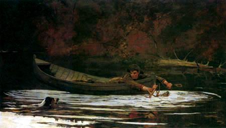 Winslow Homer - Jagdhund und Jäger