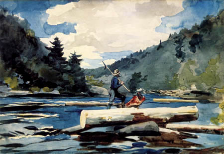 Winslow Homer - Am Hudson River