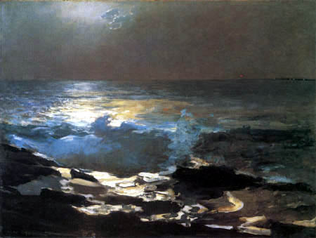 Winslow Homer - Clair de Lune, Wood Island