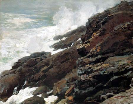 Winslow Homer - Haute falaise, côte du Maine