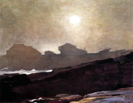 Winslow Homer - Das Studio des Künstlers in einem Nachmittagsnebel