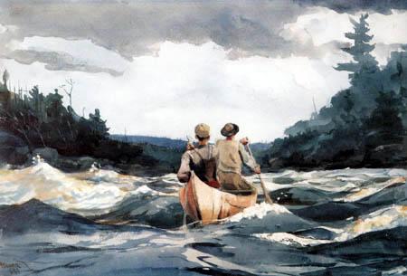 Winslow Homer - Canot dans les rapides