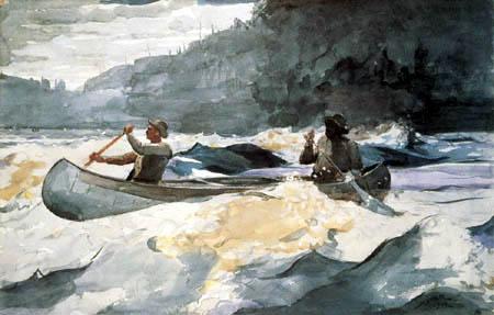 Winslow Homer - Durch die Stromschnellen