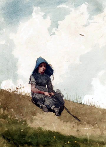 Winslow Homer - Little shepherdess