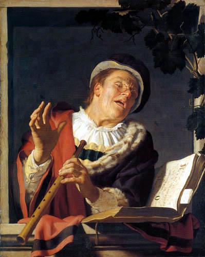 Gerard van Honthorst - Flute player