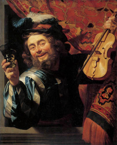 Gerard van Honthorst - Le violoniste joyeux
