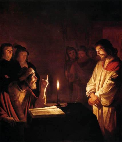Gerard van Honthorst - Christus vor dem Hohepriester