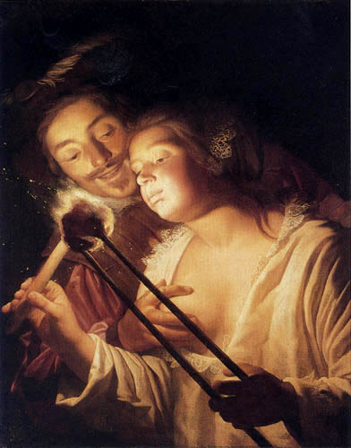 Gerard van Honthorst - The soldier and the girl