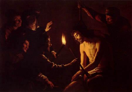 Gerard van Honthorst - Die Verspottung Christi