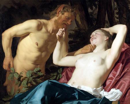 Gerard van Honthorst - Satyre et Nymphe