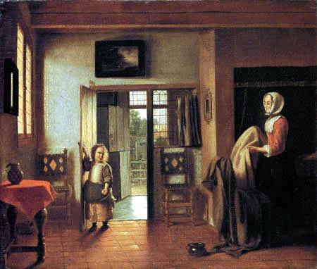 Pieter de Hooch - Dans la chambre à coucher