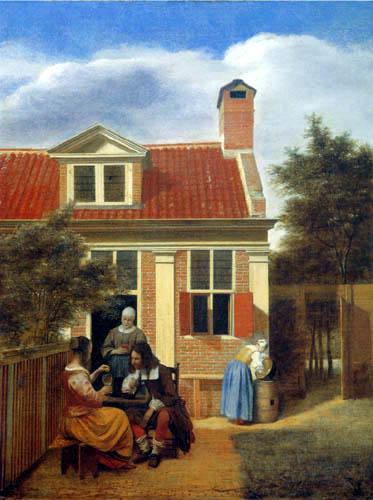 Pieter de Hooch - Gesellschaft im Innenhof