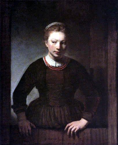 Samuel Dircksz. van Hoogstraten - Une jeune femme sur la porte