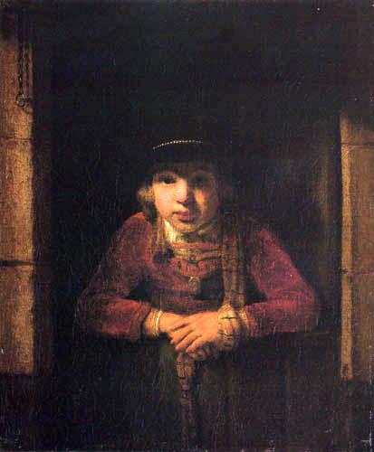 Samuel Dircksz. van Hoogstraten - Boy with hut