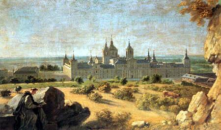Michel-Ange Houasse - View of the Monastery  El Escorial