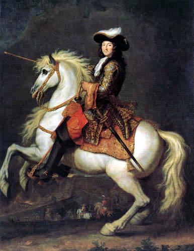 René-Antoine Houasse - Equestrian Portrait of Louis XIV