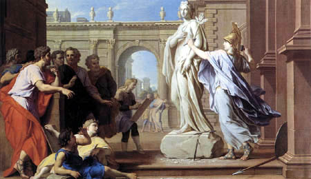 René-Antoine Houasse - Minerva teaching Sculpture to the Rhodians