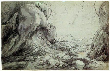 Wolf Huber - Castle in a ravine