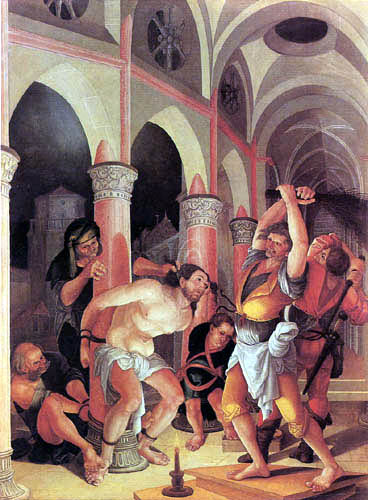 Wolf Huber - Geisselung Christi