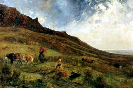 Paul Huet - The cliff line of Houlgate