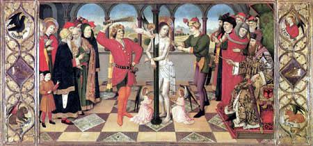 Jaime (Jaume) Huguet - Geisselung Christi