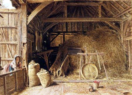 William Henry Hunt - In einem Stall