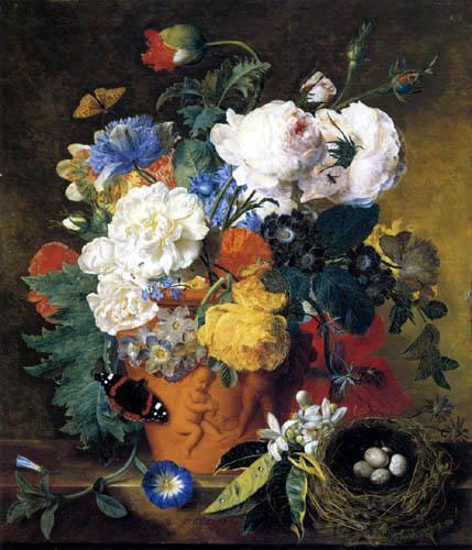 Jan van Huysum - Nature morte de fleurs