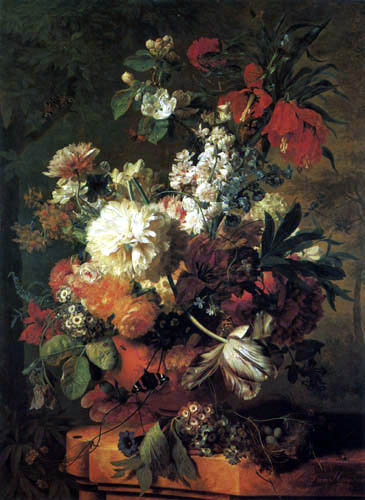 Jan van Huysum - Nature morte avec fleurs