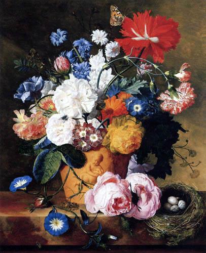 Jan van Huysum - Bouquet de fleurs