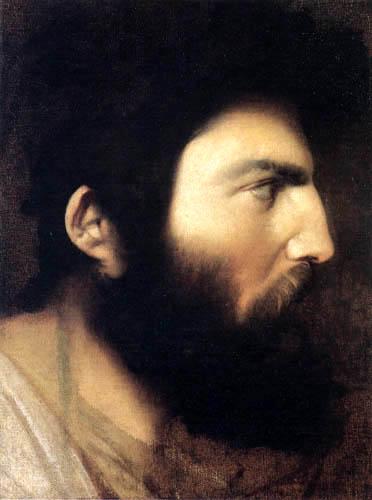 Jean-Auguste-Dominique Ingres - Kopf eines bärtigen Mannes