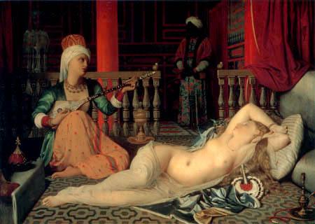Jean-Auguste-Dominique Ingres - Odaliske mit Sklaven