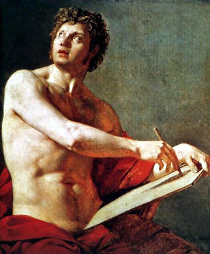 Jean-Auguste-Dominique Ingres - Studie eines männlichen Torsos