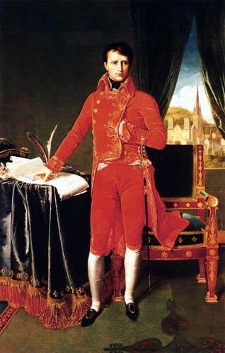 Jean-Auguste-Dominique Ingres - Napoleon Bonaparte