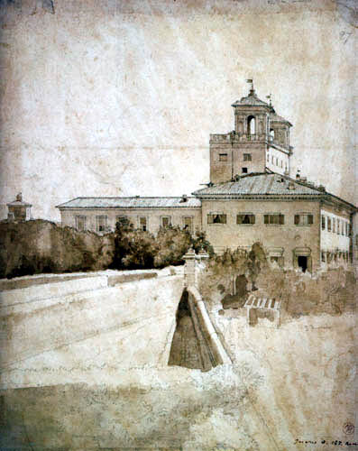 Jean-Auguste-Dominique Ingres - View of Villa Medici