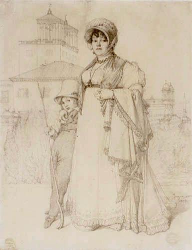 Jean-Auguste-Dominique Ingres - Marie-Josep-Honorée Lethiere mit Sohn