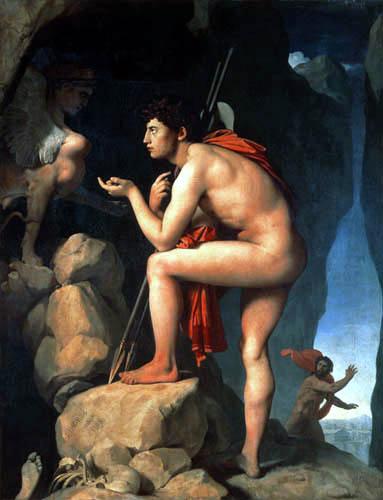 Jean-Auguste-Dominique Ingres - Ödipus und die Sphinx