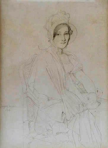 Jean-Auguste-Dominique Ingres - Porträtzeichnung Marie Marcoz