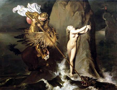 Jean-Auguste-Dominique Ingres - Rüdiger befreit Angelica