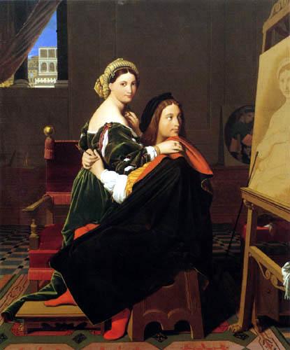 Jean-Auguste-Dominique Ingres - Raffael und La Fornarina