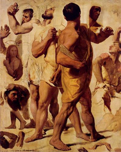 Jean-Auguste-Dominique Ingres - Das Martyrium des hl. Symphorian, Studie