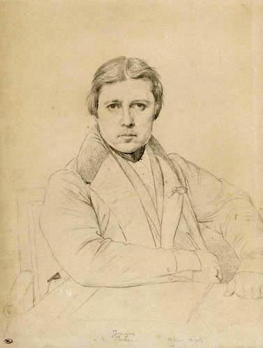 Jean-Auguste-Dominique Ingres - Selbstbildnis