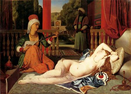 Jean-Auguste-Dominique Ingres - Odaliske mit Sklavin