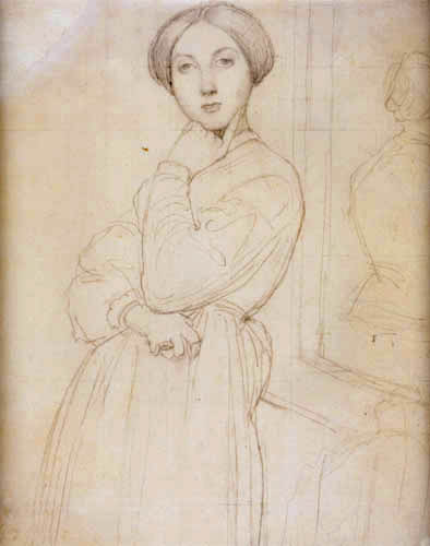 Jean-Auguste-Dominique Ingres - Portrait of Vicomtesse Louise Albertine