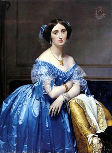 Jean-Auguste-Dominique Ingres - La Princesa Pauline-Eleonore de Broglie