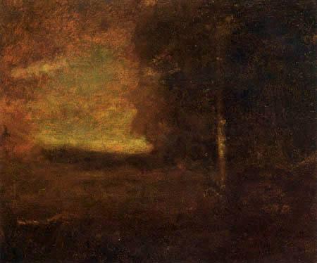 George Innes - Landschaft bei Sonnenuntergang
