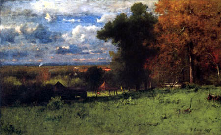 George Innes - A Breezy Autumn