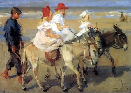 Isaac Israëls - Donkey-ride at the beach