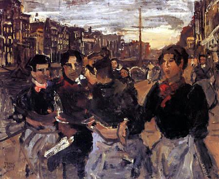 Isaac Israëls - Four Girls on the Prinsengracht