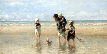 Jozef Israëls - Kinder am Strand