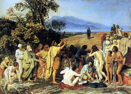 Alexander Andrejewitsch (Andreievich) Iwanow (Ivanov) - Christ appears to the people